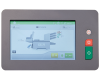 User-friendly touchscreen control panel allows users to program up to 50 jobs.