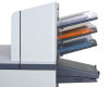 Document feeders are easy to load, and can be linked for maximum output