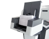 High-capacity vertical output stacker holds up to 500 filled envelopes