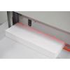 LED cut line allows operators to make fine adjustments and see exactly where the blade will cut