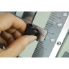 Fold plates are clearly marked for four common folds and can be easily adjusted for custom folds