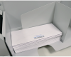 "Large outfeed tray handles envelopes up to 9.75"" W x 15"" L"