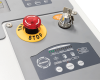 User-friendly LED control panel, emergency stop button and safety key lock