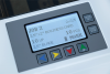 User-friendly LCD control panel with programmed and custom job settings