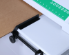 The cutting guide allows users to produce perforated cardboard to match the size of the item being shipped