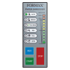 User-friendly LED control panel with load indicator helps to avoid jams