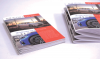 Booklets finished with the Square iT2 lie flat (left) and provide the option of printing on the spine